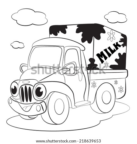 milk trucks coloring pages - photo#3