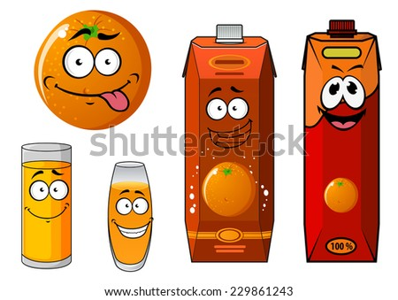 Cartoon Juice Glass Cartoon Orange And Juice