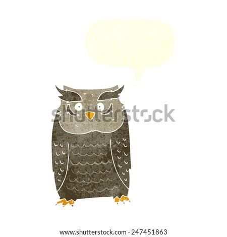 cartoon owl - stock vector
