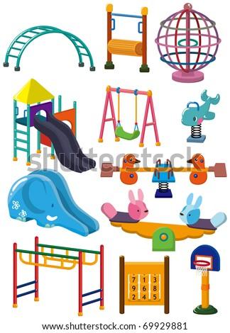 cartoon park playground icon - stock vector