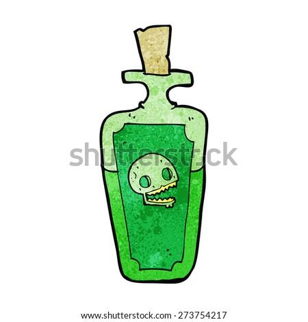 cartoon poison - stock vector