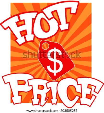 Cartoon price-tag. Vector eps 10 - stock vector