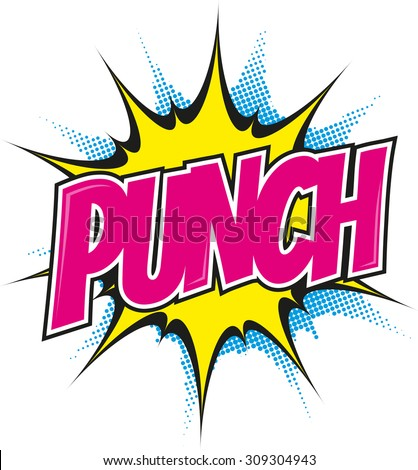 cartoon punch in pop art style - stock vector
