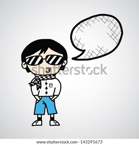 cartoon sketch  hand drawn for use - stock vector