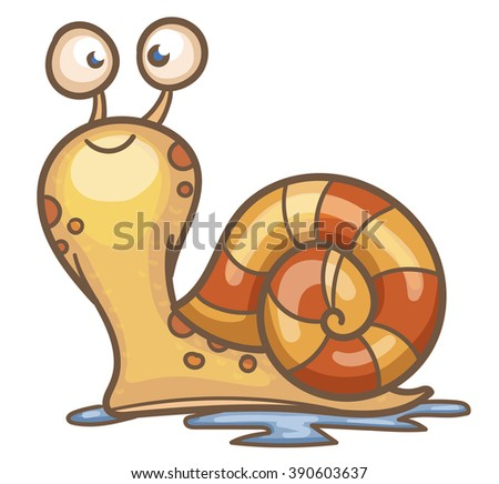 Cartoon Snail - stock vector