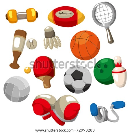 cartoon Sport objects icon - stock vector