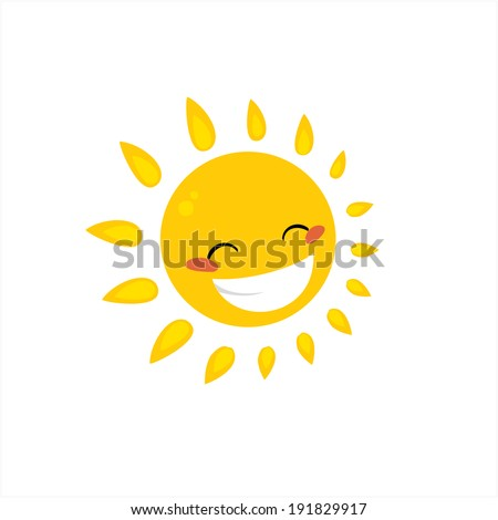 cartoon sun - stock vector