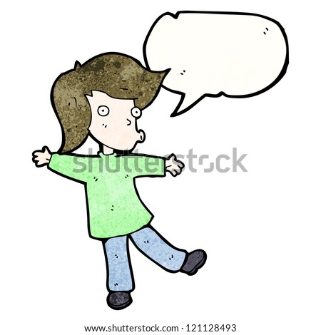 cartoon talking person - stock vector