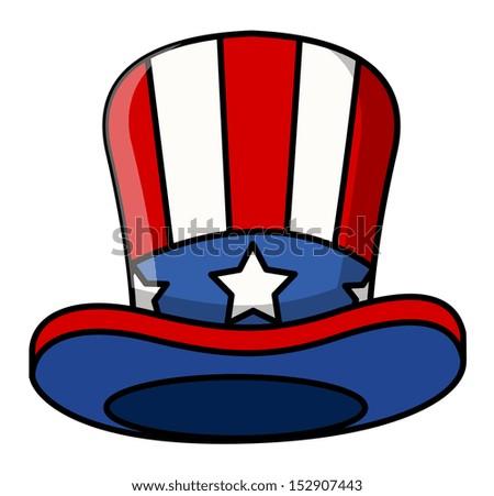 cartoon uncle sam cap - stock vector