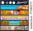 cartoon vector horizontal banner - stock vector