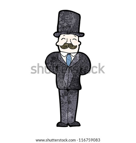 cartoon victorian gentleman - stock vector