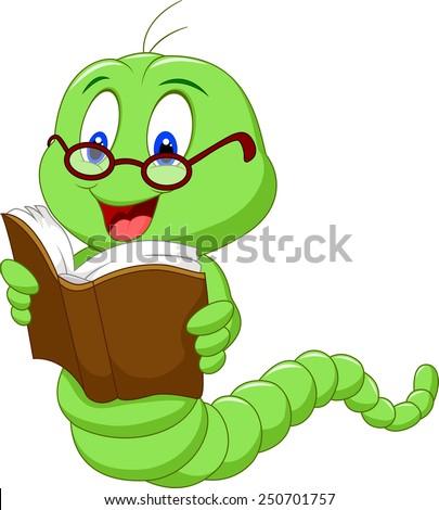 Books Cartoon Photos Cartoon Worm Reading Book