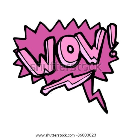 "cartoon ""wow""  speech bubble - stock vector"