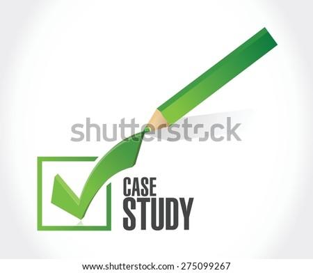 case study check mark sign concept illustration design over white background - stock vector