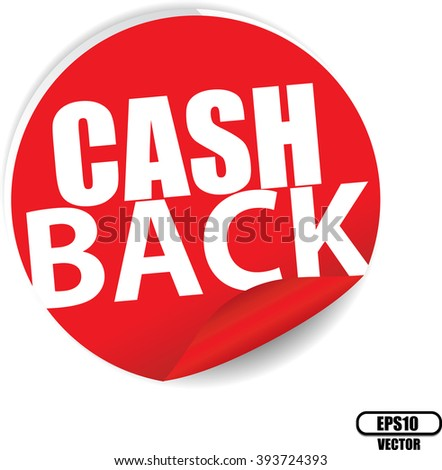 Cash back red Label, Sign, stickers and symbol -Vector Illustration - stock vector