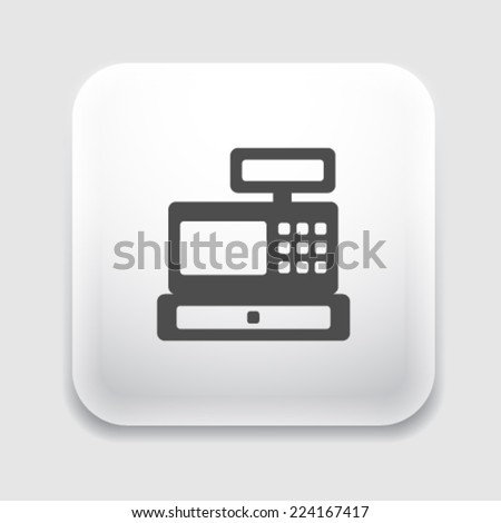 Cash register icon. - stock vector
