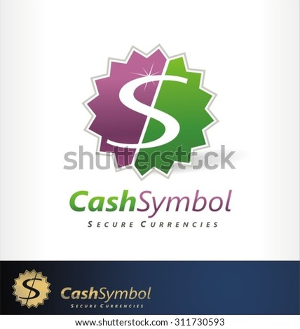 Cash symbol finance logo vector - stock vector