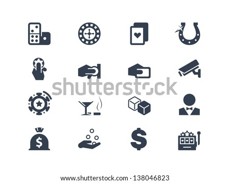 Casino and gambling icons - stock vector