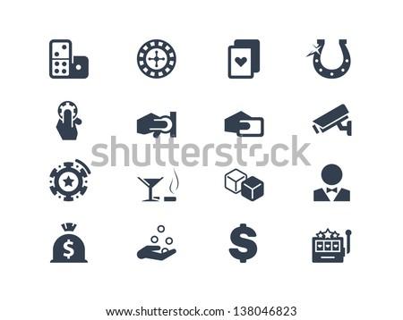 Casino and gambling icons - stock vector