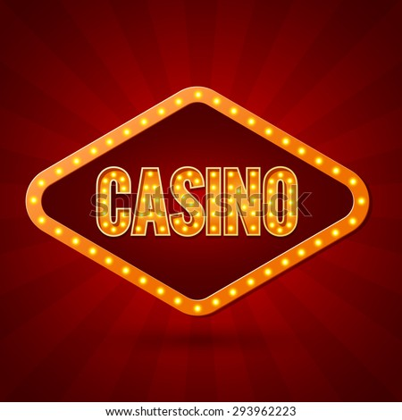 Casino Banner lighting. Vector illustration - stock vector