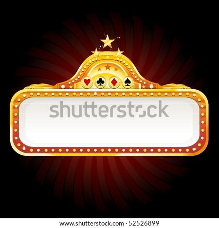Casino billboard sign - stock vector