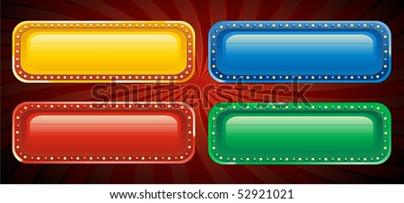 Casino button signs - stock vector