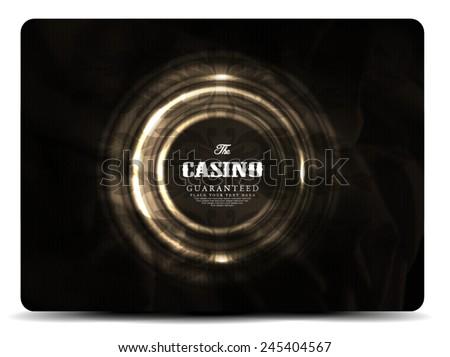 Casino card design-elegant-vintage-vector-retro - stock vector