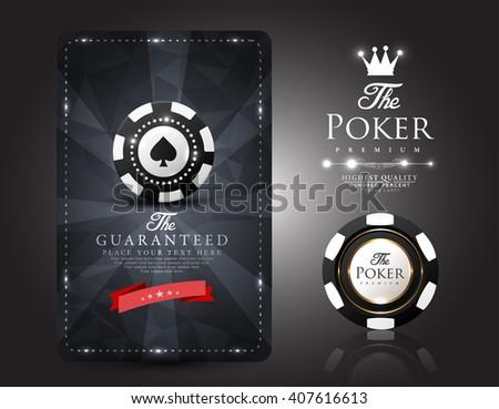 Casino card design - poker - vip - stock vector