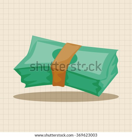 casino cash theme elements - stock vector