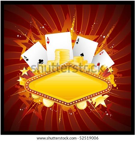Casino design - stock vector