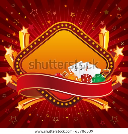 casino design element and explosion star - stock vector