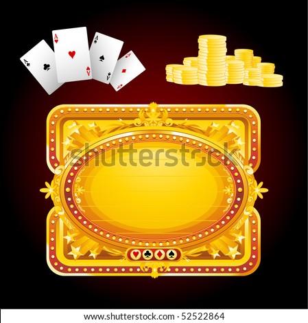 Casino elements - stock vector