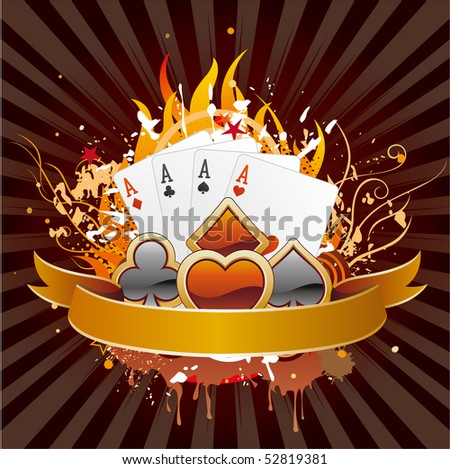 casino elements,gambling background - stock vector