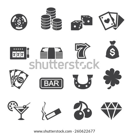 casino icon - stock vector