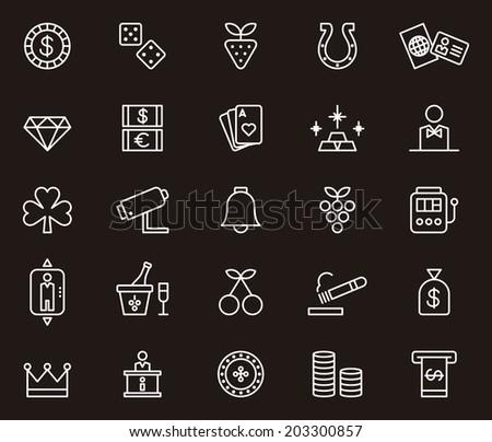 Casino icons - stock vector