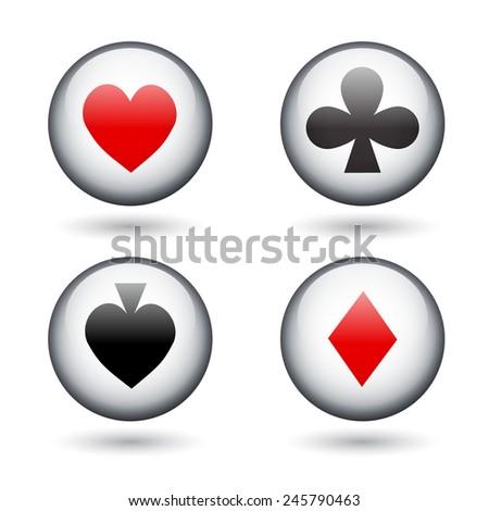Casino icons. EPS10 vector - stock vector