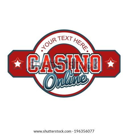 Casino Online Sign - stock vector