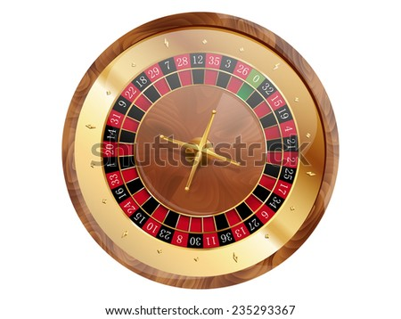 Casino roulette wheel. Vector illustration.  - stock vector