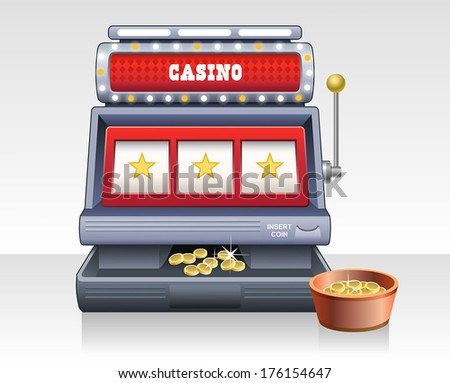Casino slot machine. Isolated vector illustration - stock vector