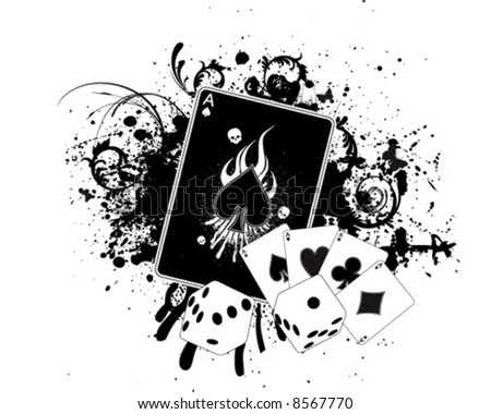 Casino Splatter - stock vector