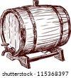 cask - stock vector