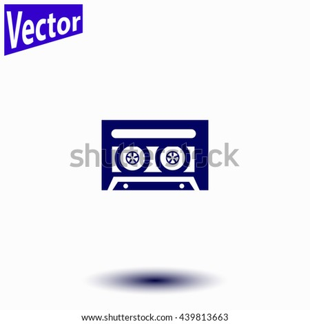 Cassette icon. Cassette icon vector. - stock vector