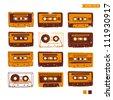 Cassette Tapes - stock vector