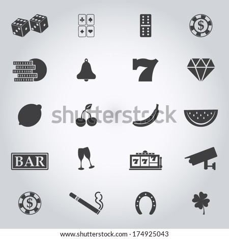 Cassino  icons set  - stock vector