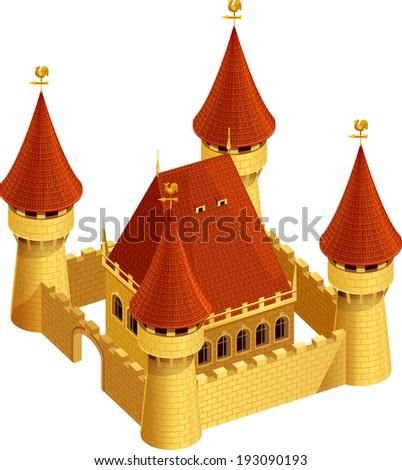 Castle in vector. Isometric view. EPS 10 - stock vector