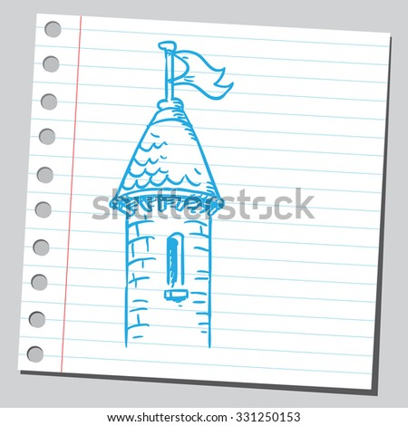 Castle tower - stock vector