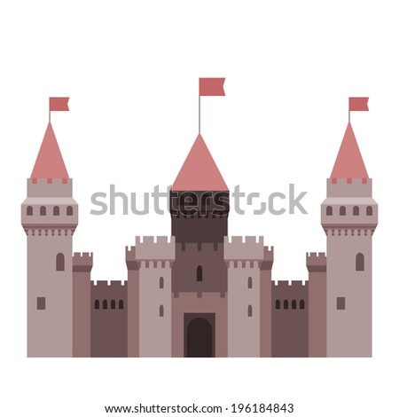 Castle tower fairy tale isolated - stock vector