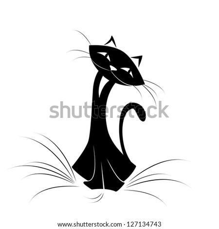 Cat - stock vector