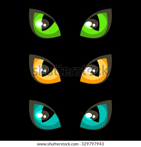 Cat eyes - stock vector