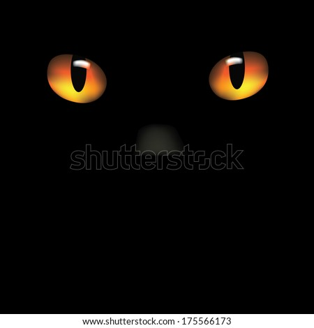 Cat eyes and nose background EPS 10 vector, grouped for easy editing. No open shapes or paths. - stock vector